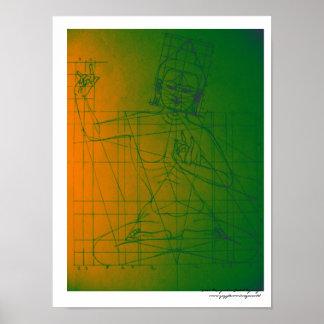 Manjushri Skizze-Plakat