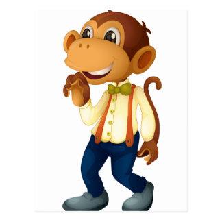 Mann ähnlicher Affe Postkarte