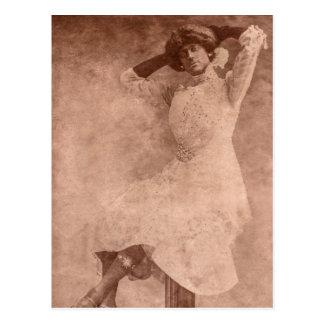 Mann als Frau Postkarte