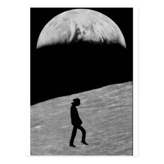 Mann auf dem Mond Postkarte