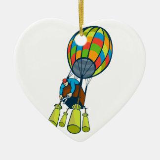 Mann-Ausschnitt-Ballast-Heißluft-Ballon Keramik Ornament