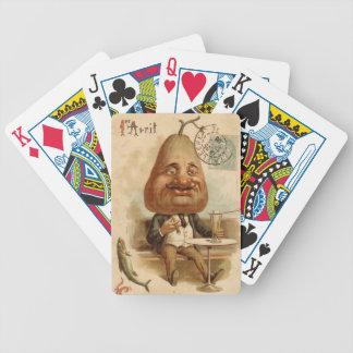 Mann Birne - Chartas des Pokers Bicycle Spielkarten