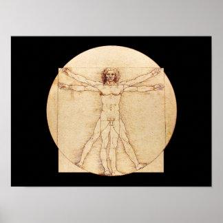 Mann Da Vincis Vitruvian Poster