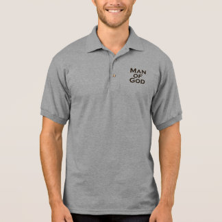 Mann des Gottes - Quadrat Polo Shirt