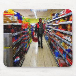 Mann-Einkaufen Mauspad