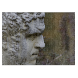 Mann-Garten-Statue-Foto Schneidebrett