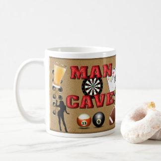 Mann-Höhle - Verpackung um Kaffee-Tasse Kaffeetasse