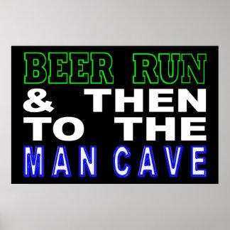 Mann-Höhlen-Zeichen Poster