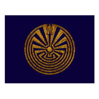 Mann im Labyrinth, Reise durch das Leben, I'itoi, Postkarte