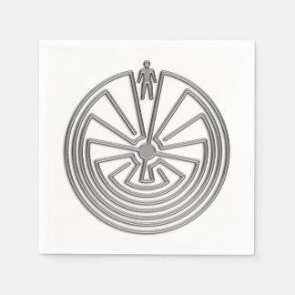 MANN IM LABYRINTH-Silber + Ihr Hintergrund Serviette