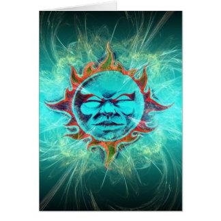 Mann im Mond - Blau Karte