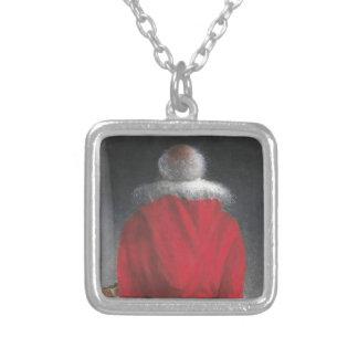 Mann im roten Mantel Versilberte Kette