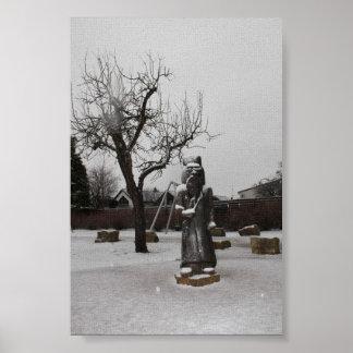 Mann im Schnee Poster