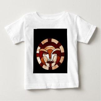 Mann in der Mond-Buntglas-dunklen Nacht Baby T-shirt