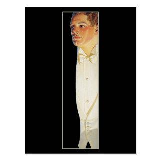 Mann in der weißen Krawatte durch Leyendecker Postkarten