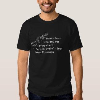 Mann ist… geborenes freies t shirts