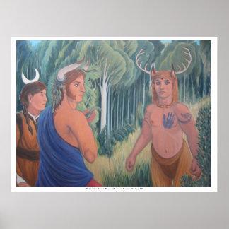 """""""Mann ist im Wald """" Poster"""