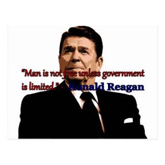 Mann ist nicht frei, es sei denn Regierung Postkarte