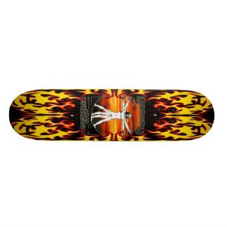 Mann LEONARDO Vitruvian auf Atombomben-Skateboard Skateboardbrett
