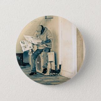 Mann-Lesepapier Runder Button 5,7 Cm