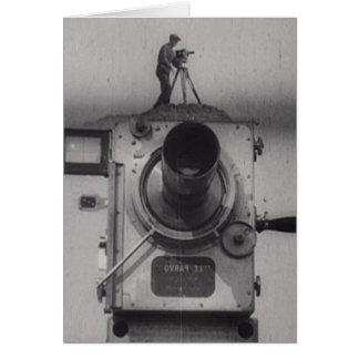 Mann mit einer Film-Kamera (1. Schuss) Karte