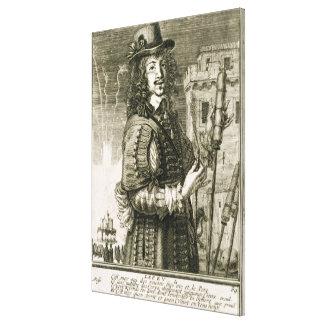Mann mit Feuerwerksrakete, vom 'Recueil de fig Leinwanddrucke
