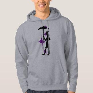 Mann mit grafische Kunst des Regenschirmes coolem Kapuzenpullis