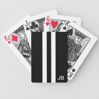 Mann-mit Monogramm Schwarzweiss-Spielkarten