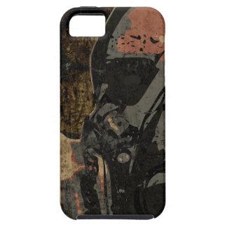 Mann mit Schutzmaske auf dunklem Metallplatten Hülle Fürs iPhone 5