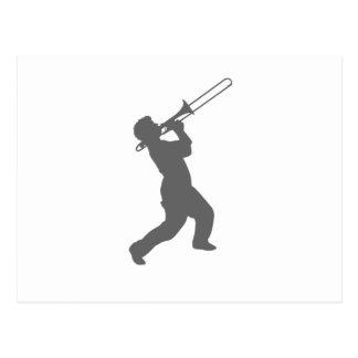 Mann mit Trombone Postkarte