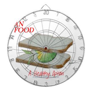 Mann-Nahrung Tonys Fernandess - eine gesunde Wahl Dartscheibe