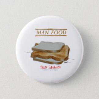 Mann-Nahrung Tonys Fernandess - Toastsandwich Runder Button 5,1 Cm