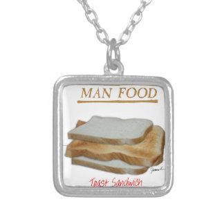 Mann-Nahrung Tonys Fernandess - Toastsandwich Versilberte Kette