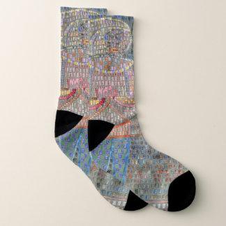 Mann Pauls Klee im extravaganten Kleid - Socken