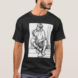 Mann-rauchende Huka T-Shirt