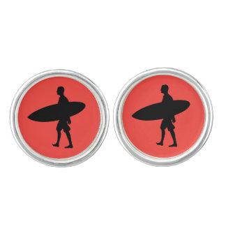 Mann-tragendes Surfbrett Manschetten Knöpfe