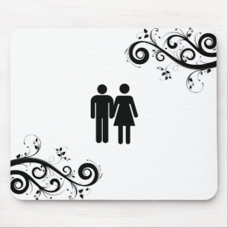 Mann und Frau Mauspad