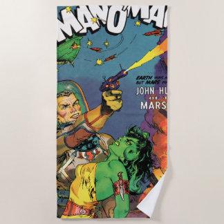 Mann von Mars Strandtuch