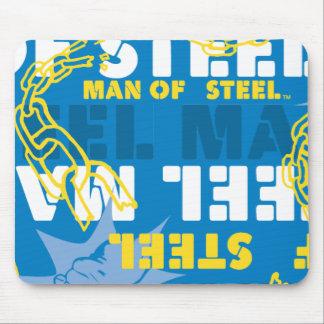 Mann von Stahlgelbem und von Blau Mauspad