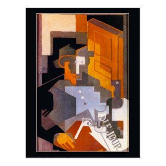Mann von Touraine durch Juan Gris Postkarte