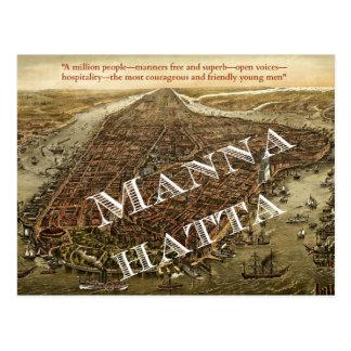 Mannahatta -- Whitmans Manhattan-Postkarte Postkarte