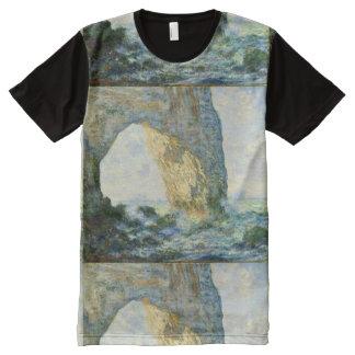 Manneporte, Felsen-Bogen Étretat (Normandie) - T-Shirt Mit Komplett Bedruckbarer Vorderseite