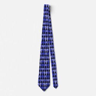 Männer blau und schwarze Gitarren Krawatte