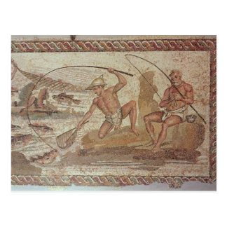 Männer, die auf dem Nil fischen Postkarte