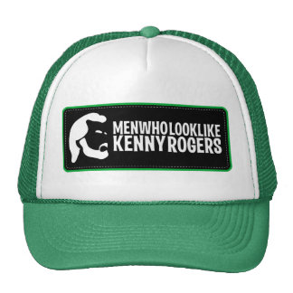 Männer, die wie Kenny Rogers-Fernlastfahrer-Hut au Netzkappe