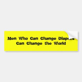 Männer, die Windeln ändern können Autoaufkleber
