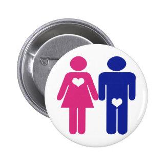 Männer GEGEN Frauen-Neuheits-Spaß-Knöpfe Runder Button 5,7 Cm