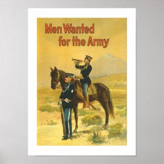 Männer gewollt für die Armee Poster