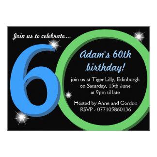 Männer Grüner/des Blau-sechzigste 60. Individuelle Einladung