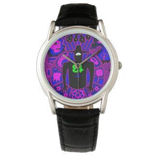 Männer in schwarzem Lila Armbanduhr